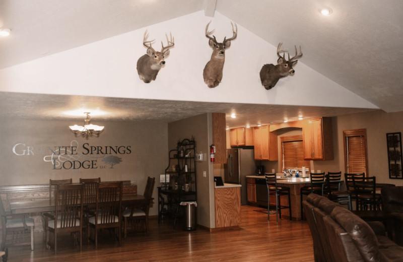 Lodge interior at Granite Springs Lodge.