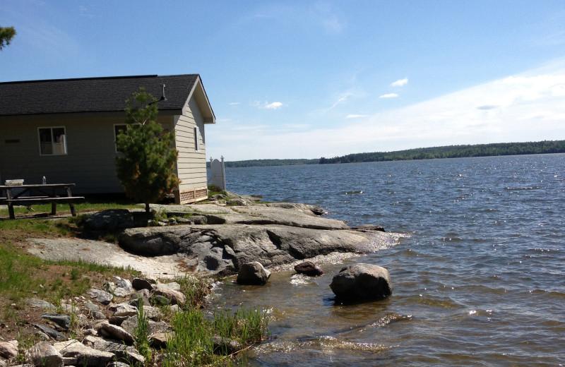 Cabin exterior at Ballard's Black Island.