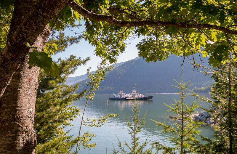 Lake view at The Lodge at Arrow Lakes.