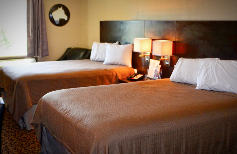 Guest room at Four Bears Casino & Lodge.