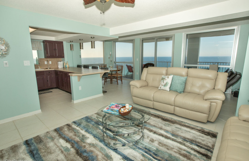 Rental living room at Holiday Isle Properties, Inc.