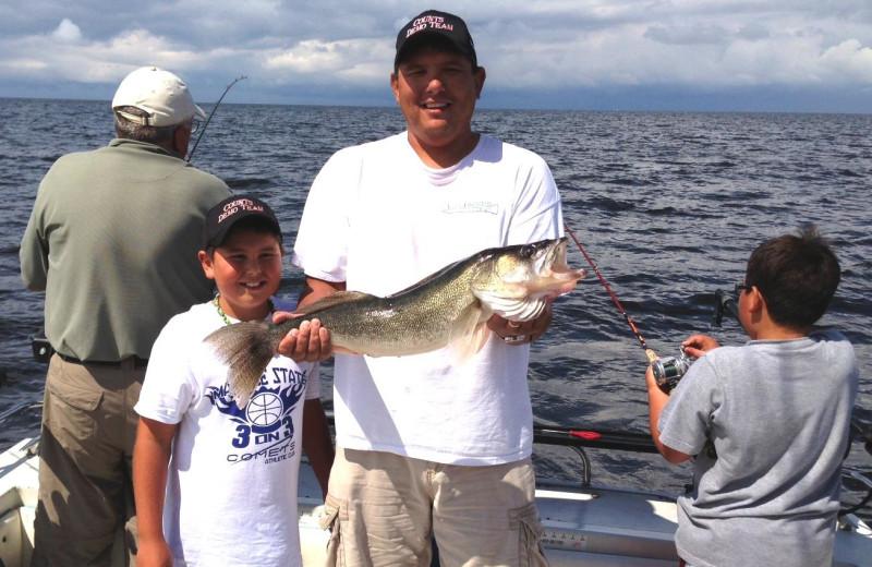 Family fishing at Cyrus Resort.