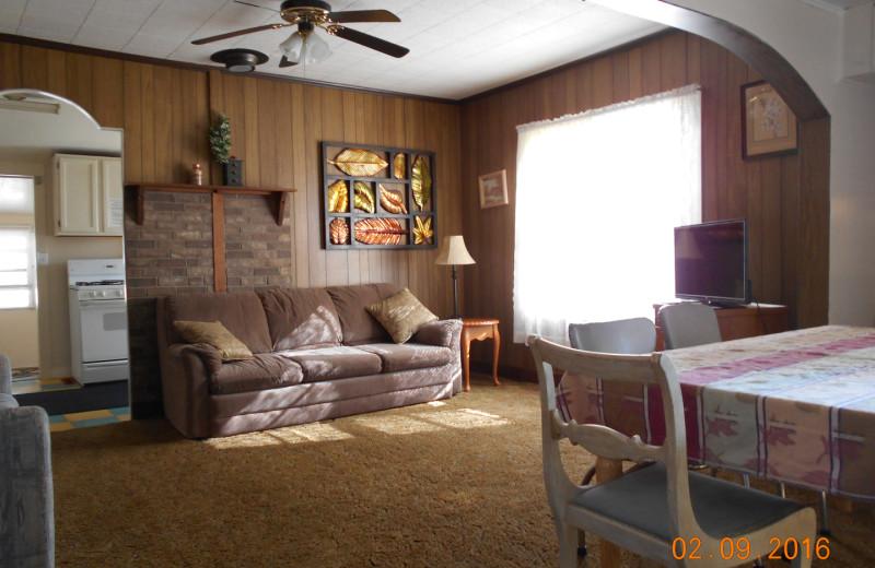 Cottage living room at Parkside Cottages.