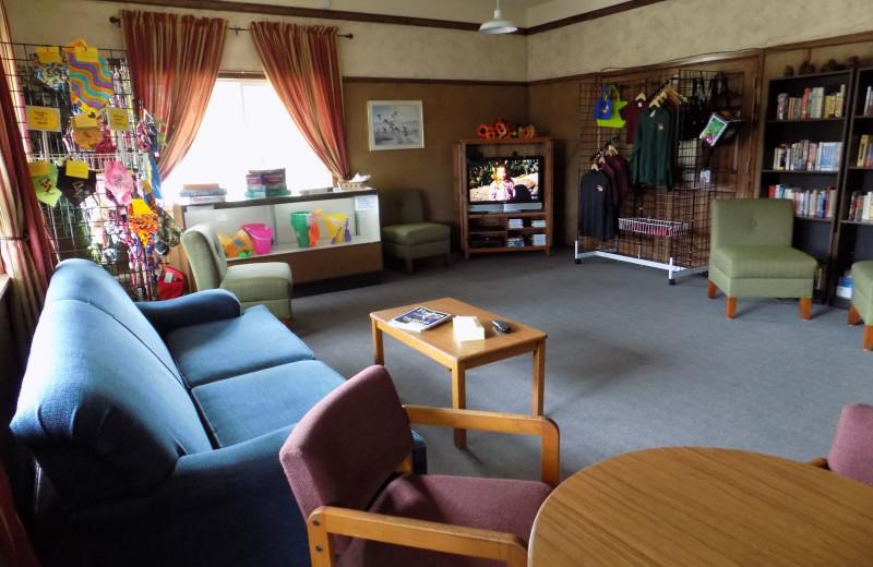 Lobby at Chautauqua Lodge.