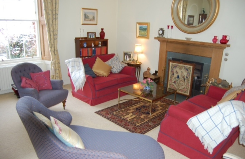 Living room at Denfield House.