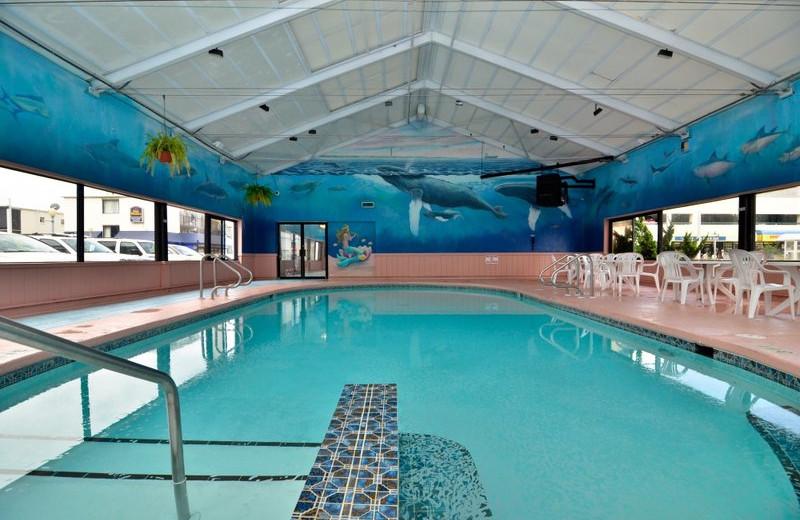 Indoor pool at Best Western PLUS Oceanfront Virginia Beach.