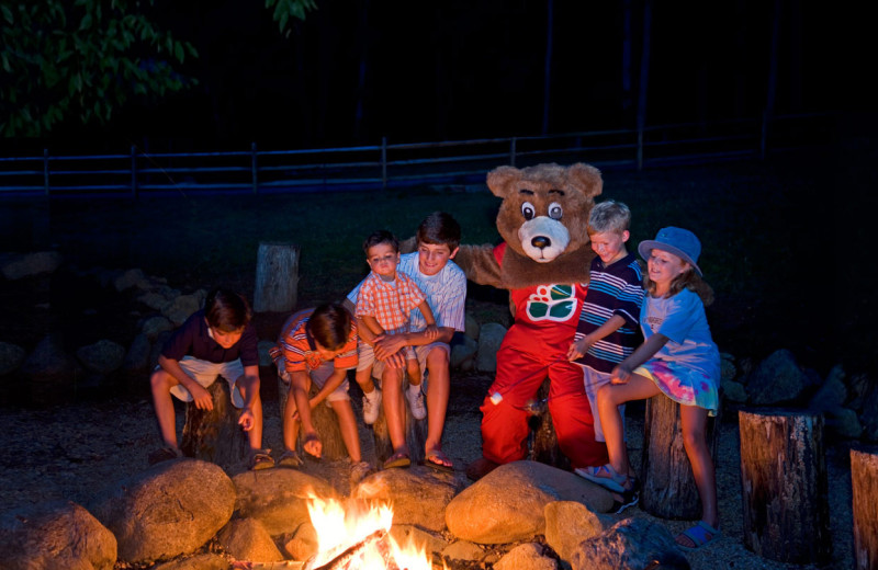 Campfire at Wintergreen Resort.