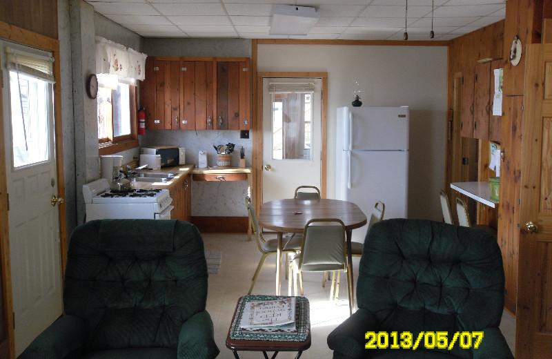 Cabin kitchen at Red School Resort.