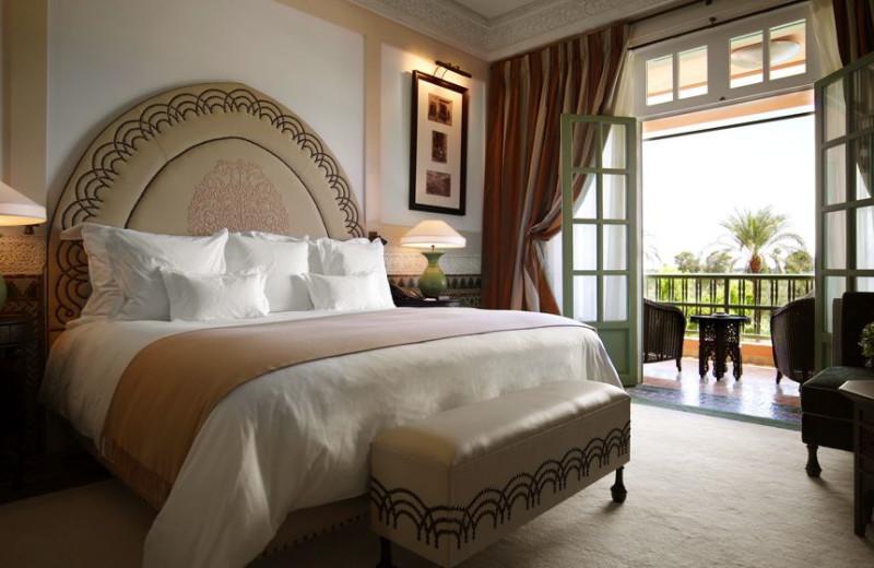 Guest room at La Mamounia.