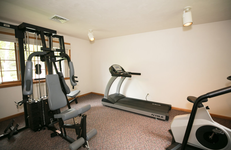 Fitness room at Glidden Lodge Beach Resort.