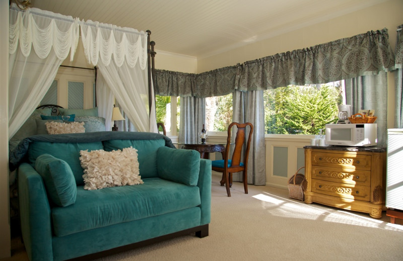 Guest room at Monarch Cove Inn.