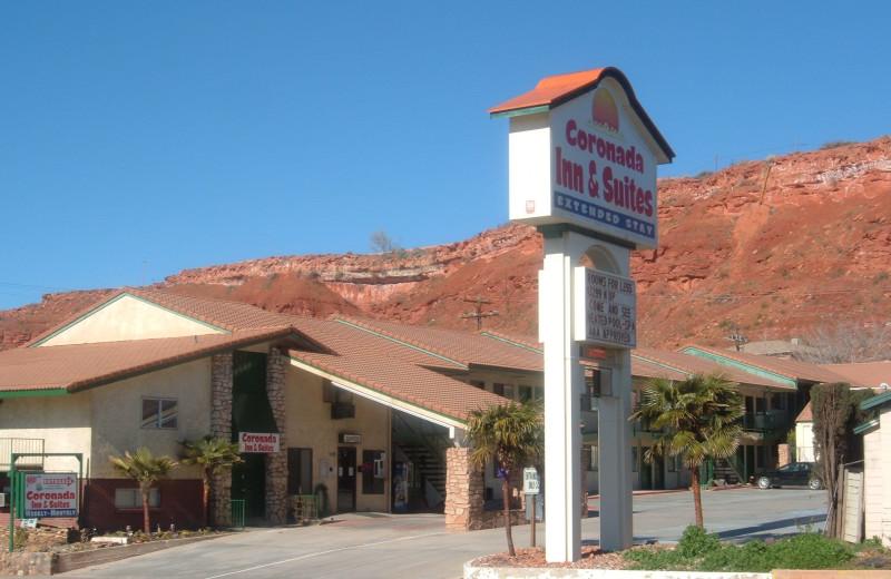 Exterior view of Coronada Inn & Suites.