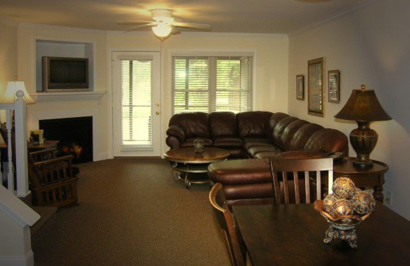 Vacation rental living room at Black Forest Bed & Breakfast & Luxury Cabins.