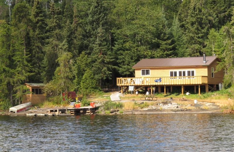 Cabin exterior at Clark's Resorts & Outposts.
