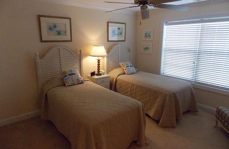 Rental bedroom at Ocean Isle Beach Realty.