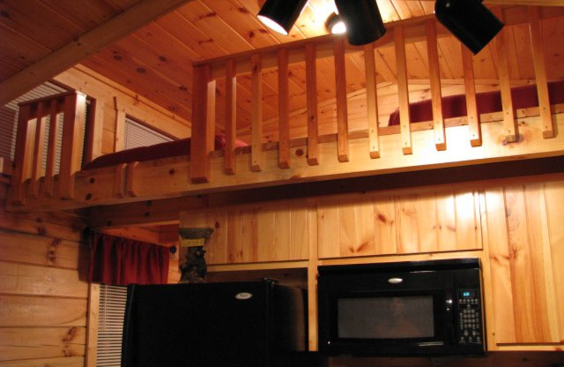 Cabin loft at Copperhead Lodge.