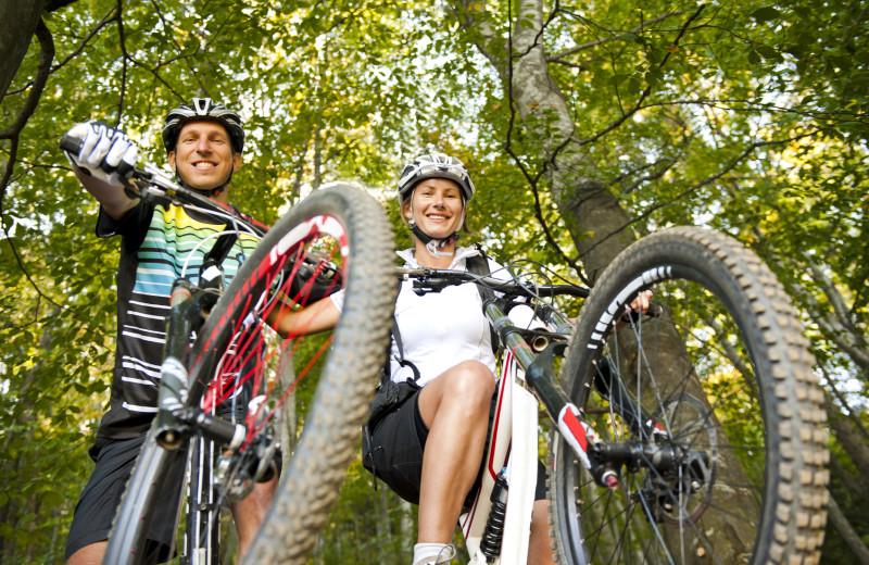 Bike riding at Morrell Ranch.