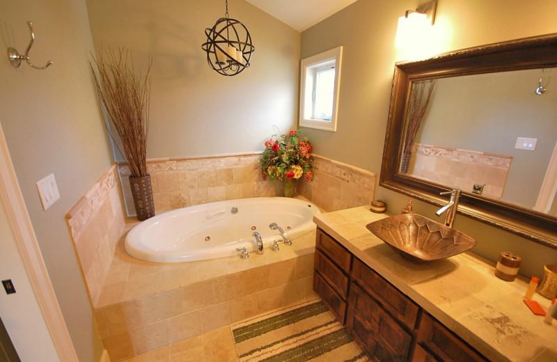 Rental bathroom at Shorepine Vacation Rentals.