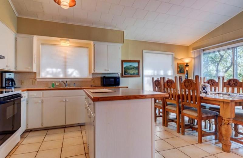 Kitchen at Moores Hidden Cove Retreat.