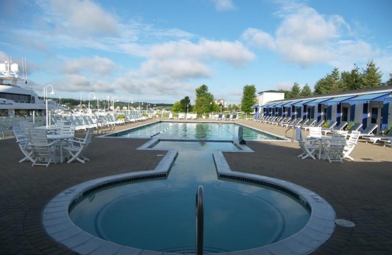 Hot tub and outdoor pool at Bay Harbor Resort and Marina.
