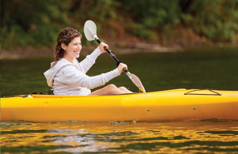 Kayaking at Canyon Ranch in Lenox.