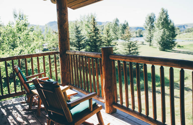 Deck view at South Fork Lodge.