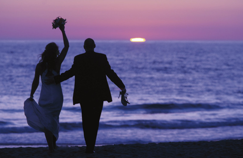 Wedding couple at The Ritz-Carlton, Laguna Niguel.