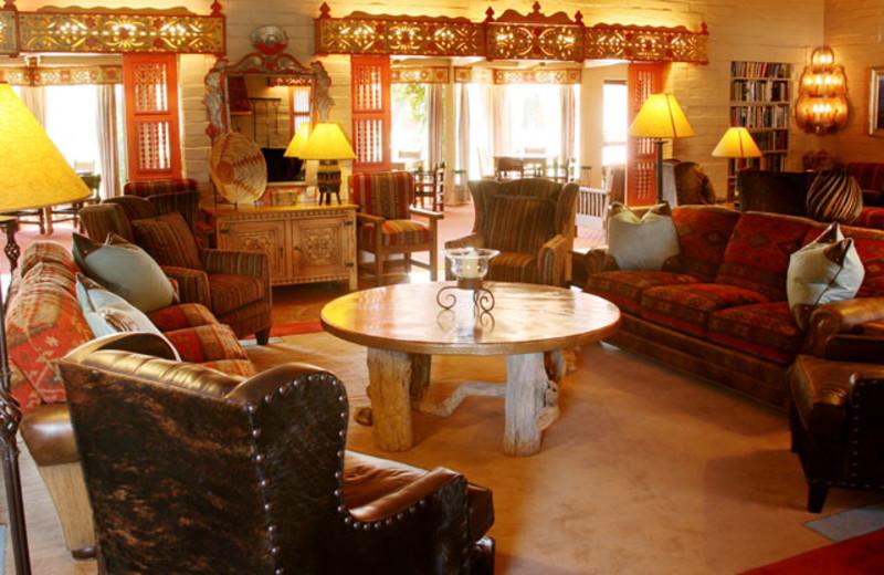Ranch lounge at Rancho De Los Caballeros.
