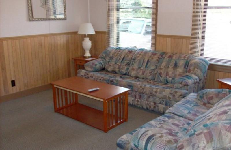 Cabin living room at Boulders Resort.