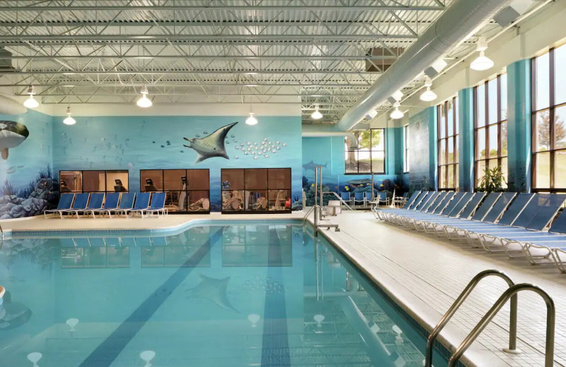 Indoor pool at DoubleTree Resort by Hilton Hotel Lancaster.