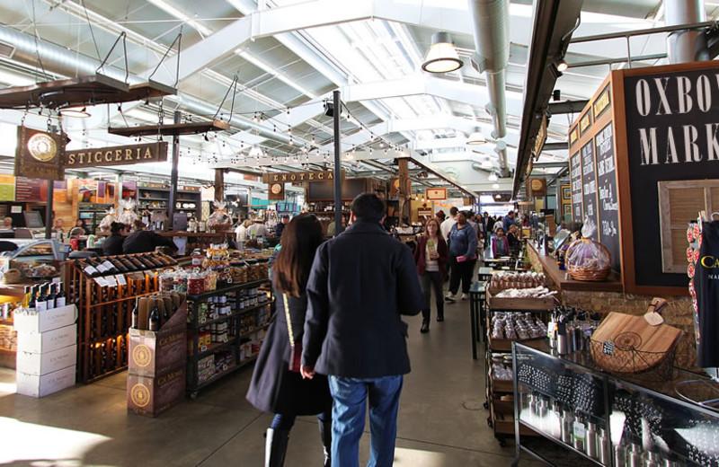 Oxbow Public Market near Hennessey House Bed & Breakfast.