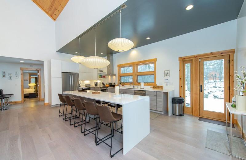 Rental kitchen at Railey Vacations.