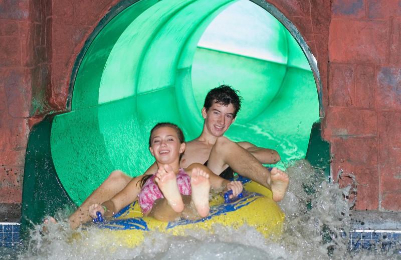 Water slide at Holiday Inn Minneapolis NW Elk River & Wild Woods Waterpark.