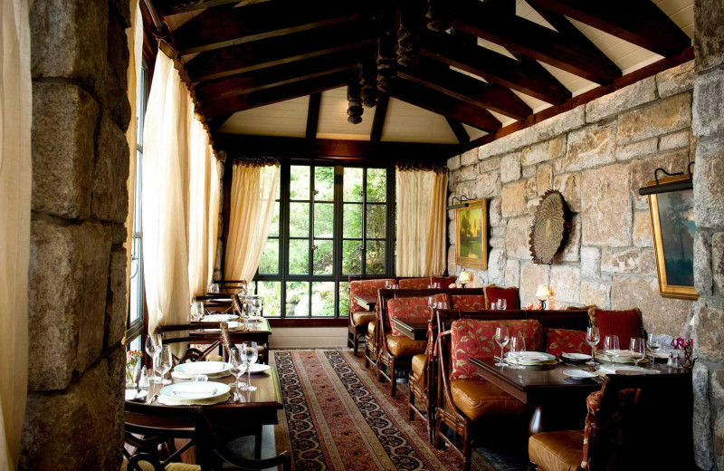 Dining at Old Edwards Inn and Spa.