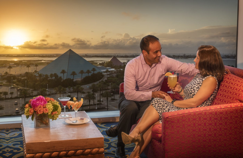 Couple at Moody Gardens Hotel Spa & Convention Center.