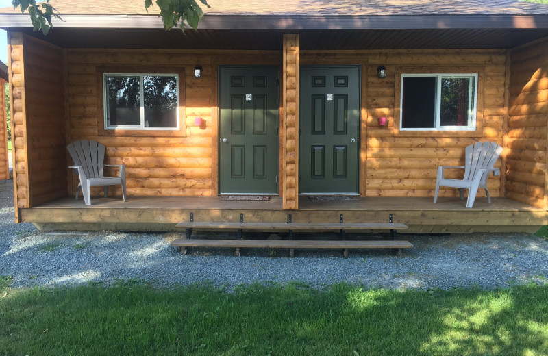 Cabin exterior at Bakers Narrows Lodge.