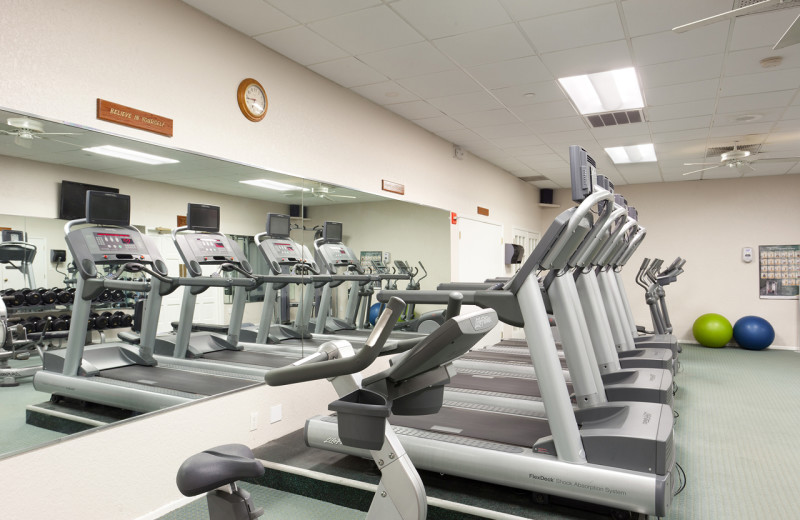 Fitness room at TradeWinds Island Grand.