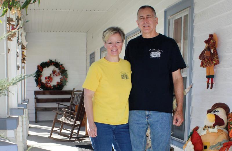 Porch at Ozark Country Inn.