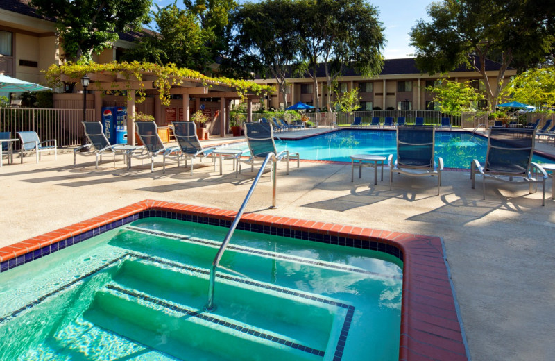 Outdoor pool at Sheraton Sunnyvale Hotel.