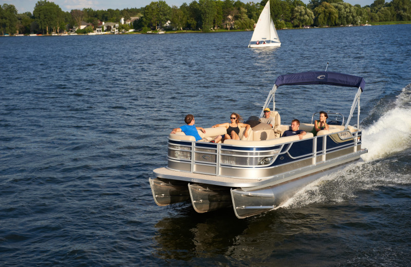 Pontoon at Finger Lakes Premiere Properties.