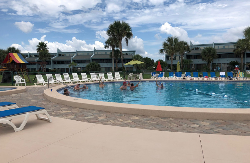 Outdoor pool at Sunnyside Resort Rental Company.