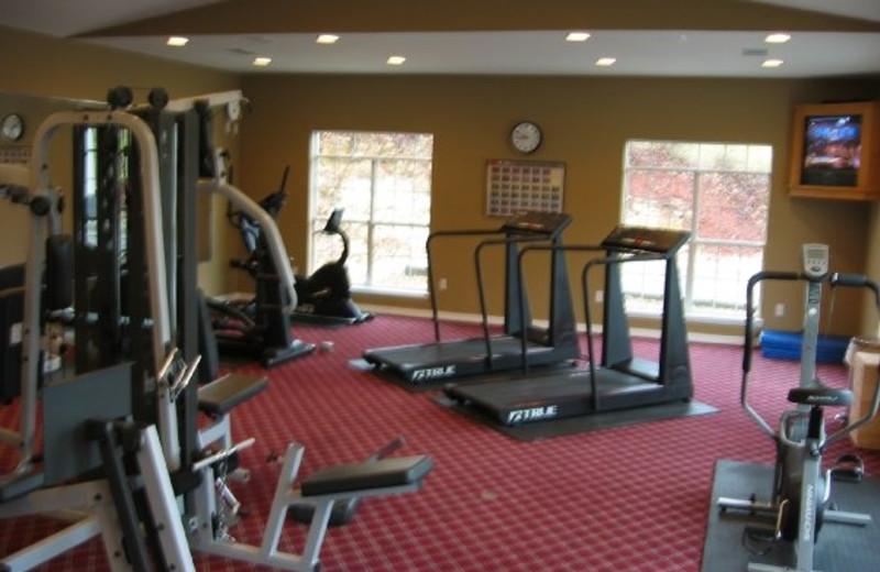 Fitness center at Thousand Hills Golf Resort.