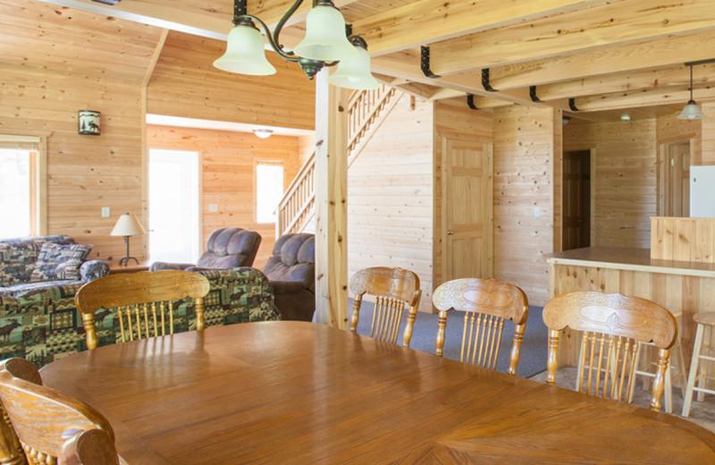 Cabin interior at Half Moon Trail Resort.