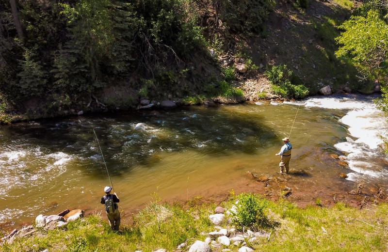 Fishing at Colorado Trails Ranch.