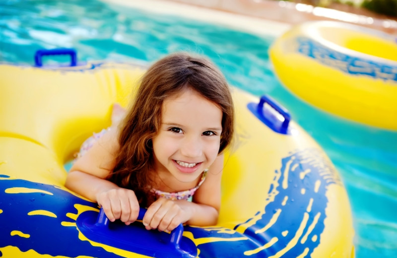 Swimming at Arizona Grand Resort.
