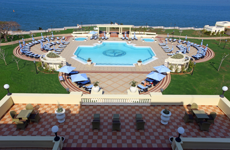 Outdoor pool at Polana Hotel.