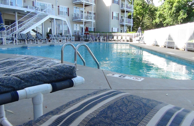 Relax by the pool at Delavan Lake Resort.