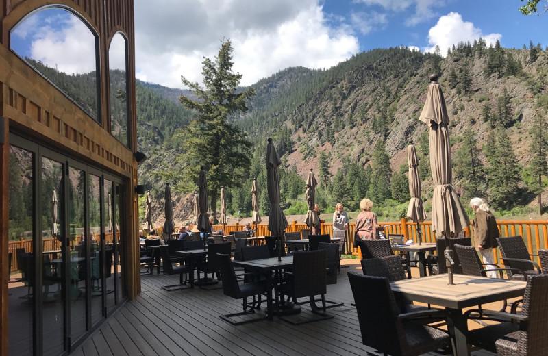 Patio at Quinn's Hot Springs Resort