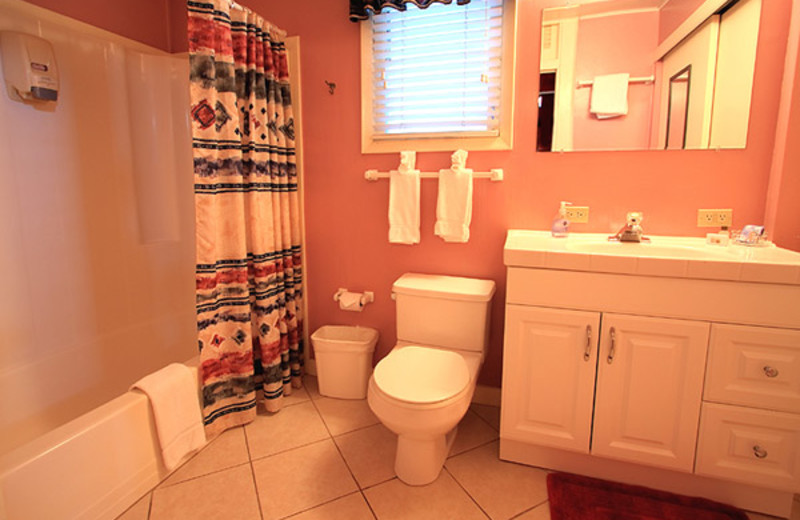 Guest bathroom at Marrero's Guest Mansion.