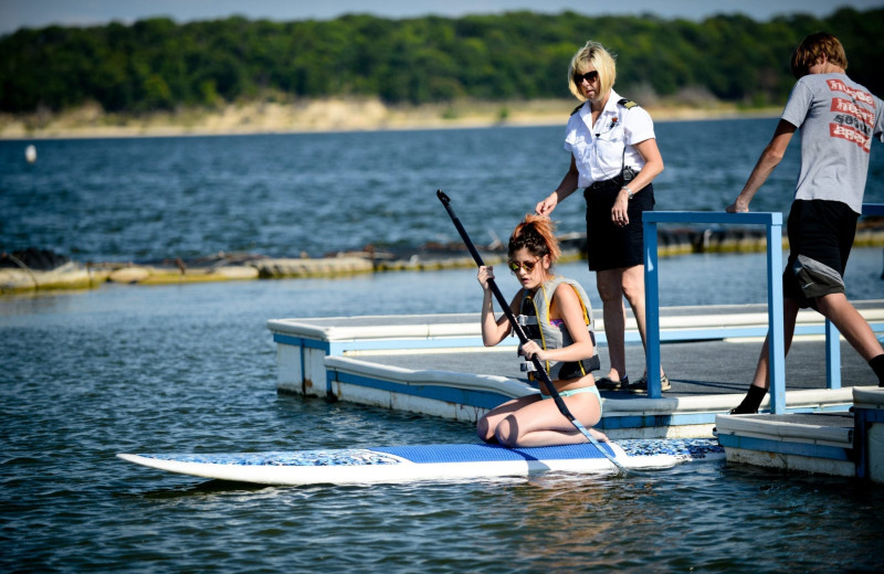 Paddle board at Tanglewood Resort and Conference Center.
